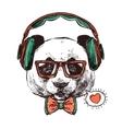 Hipster Portrait Animals vector image