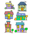 house set art colorful vector image vector image