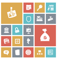 icons tile business job vector image vector image