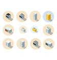 isometric set of household appliances icon 3d flat vector image vector image