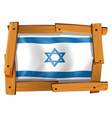 israel flag design on square badge vector image vector image