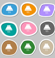 Kitchen hood icon sign Multicolored paper stickers vector image vector image