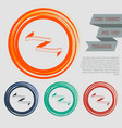 measuring tape icon on the red blue green orange vector image vector image