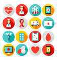 medicine health flat icons vector image vector image