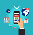 Mobile Payments Concept online shopping and vector image
