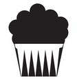 muffin black stroke linear icon vector image
