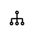 Network Icon Flat vector image vector image