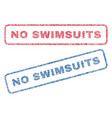no swimsuits textile stamps vector image vector image