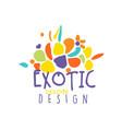 original scribble exotic logo design for travel vector image