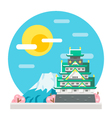 Osaka castle flat design landmark vector image