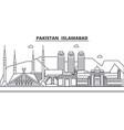 pakistan islamabad architecture line skyline vector image