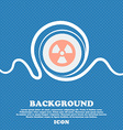 radiation sign icon Blue and white abstract vector image