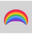 rainbow arch transparent rainbow vector image vector image