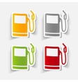 realistic design element gas station vector image