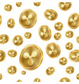 ripple seamless pattern gold coins vector image vector image