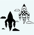 Rocket icon vector image vector image