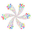 rounded arrow twirl flower cluster vector image vector image