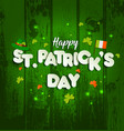 saint patrick s day background on wooden texture vector image