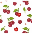 Seamless background with cherries vector image