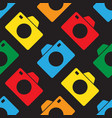 seamless - color cameras vector image vector image