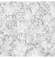 Seamless Monochrome Floral Pattern Hand vector image vector image