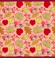 seamless retro autumn leaf background pattern in vector image vector image