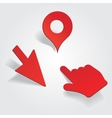 set different map pointers vector image vector image