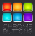 Set of Colorful Chrome Buttons vector image vector image