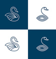 set swan logo templates vector image