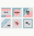 set trendy geometric elements memphis cards vector image vector image