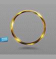 shining golden ring abstract gold glowing round vector image vector image
