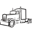 simple with a truck vector image vector image