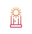 solarium line icon vertical solarium cabin vector image vector image