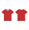 technical sketch men t shirt in red colors unisex vector image vector image