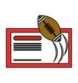 Ticket of American football design vector image vector image