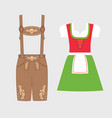 traditional austrian and bavarian costume vector image