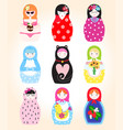 traditional russian doll matryoshka toy nesting vector image vector image