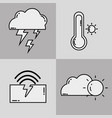 weather storm liner icon flat vector image