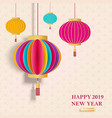 2019 chinese new year greeting card with vector image vector image