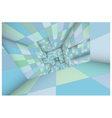 3d futuristic labyrinth green blue shaded interior vector image vector image