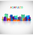 acapulco skyline silhouette in colorful geometric vector image vector image