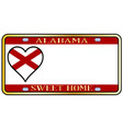 alabama state license plate vector image vector image