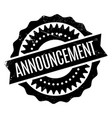 announcement rubber stamp vector image