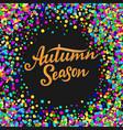 autumn season lettering hand drawn composition vector image