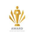 award winner cup - logo icon on white background