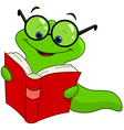 Book worm vector image