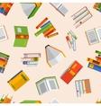 Books set seamless pattern vector image