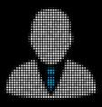 boss halftone icon vector image vector image