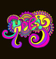 bright color word holi mandalato the indian vector image