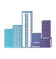 building set city gradient color silhouette from vector image vector image